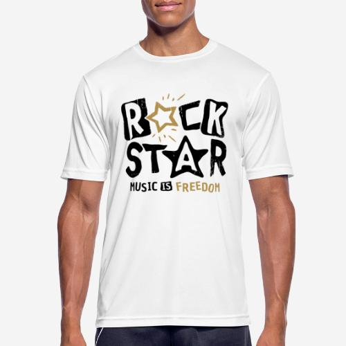 rock star music freedom - Männer T-Shirt atmungsaktiv