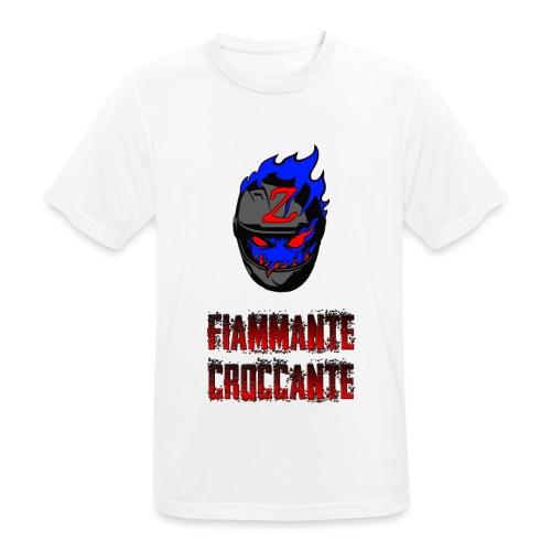FlamesLogo - Maglietta da uomo traspirante