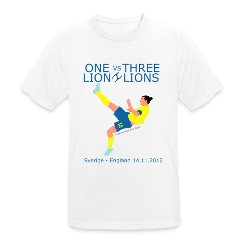 One Lion vs Three Lions - Herre T-shirt svedtransporterende