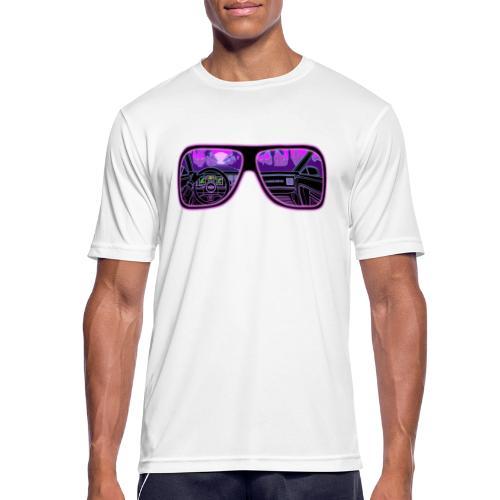 RETROVISION - miesten tekninen t-paita