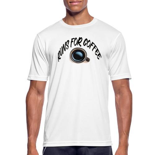 runs for coffee - Mannen T-shirt ademend actief