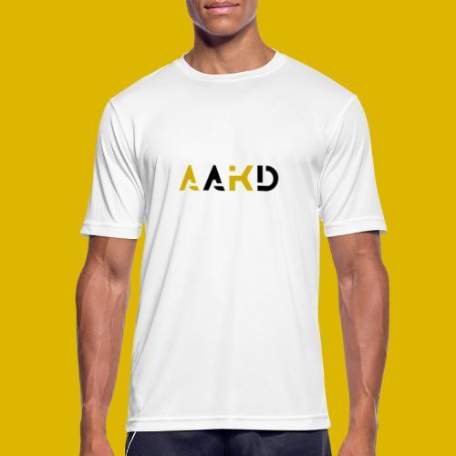 AAKD logo in Schwarz/Gold - Männer T-Shirt atmungsaktiv