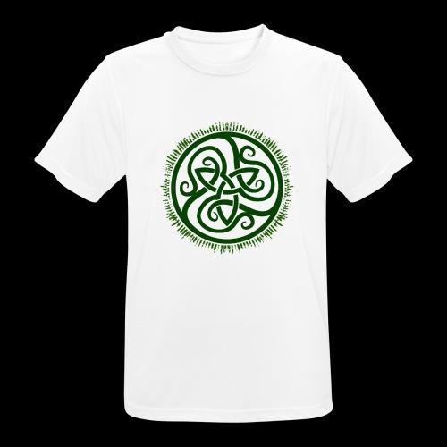 Green Celtic Triknot - Men's Breathable T-Shirt