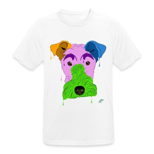 Fox Terrier - Maglietta da uomo traspirante