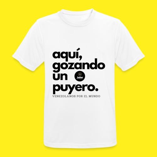 aqui gozando un puyero - Camiseta hombre transpirable