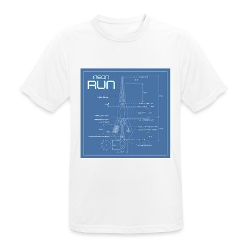 NeonRun blueprint - Mannen T-shirt ademend actief