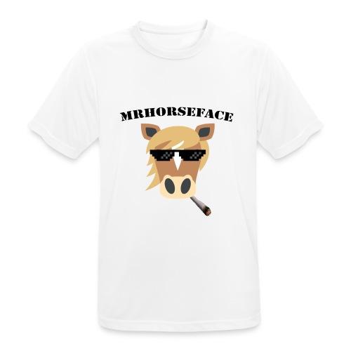 MrHorseFace - Mannen T-shirt ademend actief