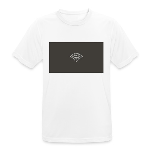 HOME IS WHERE THE WIFI CONNECTS AUTOMATICALLY - Herre T-shirt svedtransporterende
