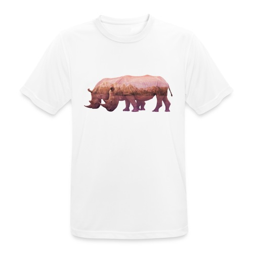 Nashorn Alpen - Männer T-Shirt atmungsaktiv
