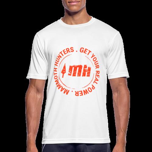 Mammoth Hunters / Círculo naranja - Camiseta hombre transpirable
