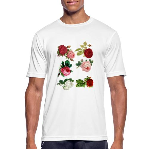 Rosas - Camiseta hombre transpirable