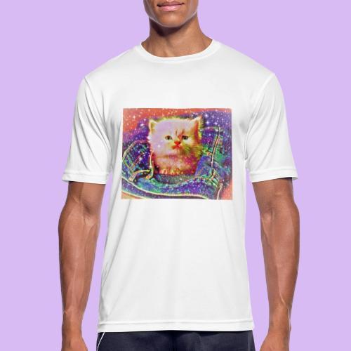 Gattino scintillante nella tasca dei jeans - Maglietta da uomo traspirante