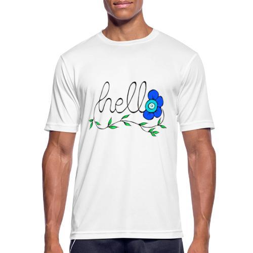 Hello Blume. - Männer T-Shirt atmungsaktiv
