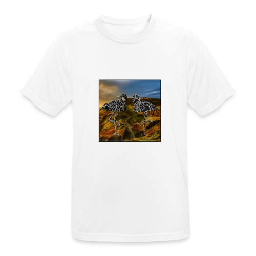 Flamingo Haluzination Bio - Männer T-Shirt atmungsaktiv