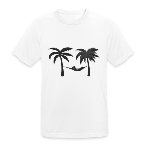 Hängematte mitzwischen Palmen - Männer T-Shirt atmungsaktiv