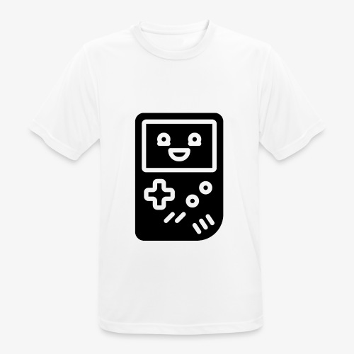 Smiling game console (black, inverted) - Men's Breathable T-Shirt