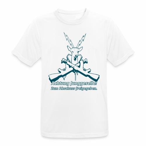 Achtung Junggeselle mono - Männer T-Shirt atmungsaktiv