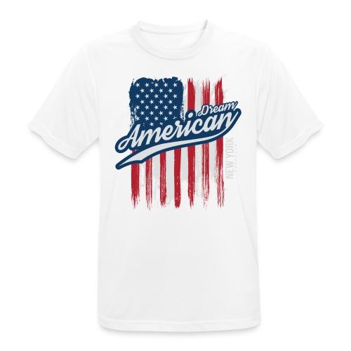 usa american dreams - mannen T-shirt ademend
