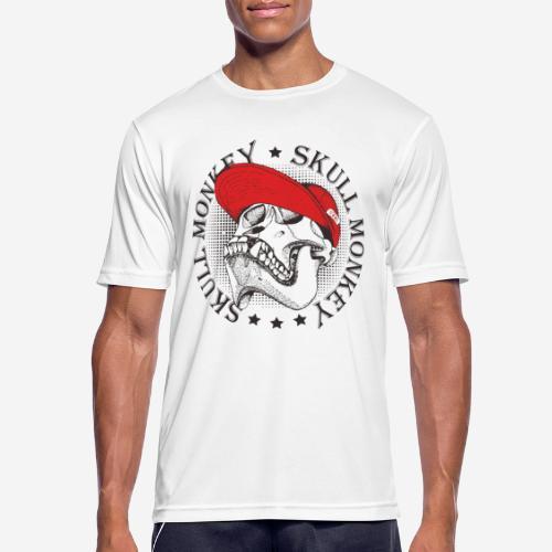 skull monkey vintage - Männer T-Shirt atmungsaktiv