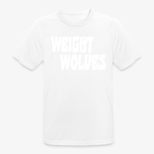 WEIGHT WOLVES FINAL WHITE - Männer T-Shirt atmungsaktiv