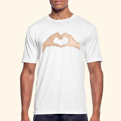 Mains Coeur Amour - Love hands - T-shirt respirant Homme