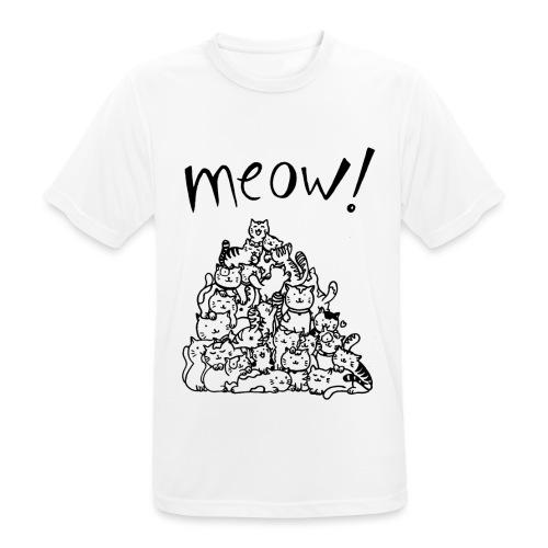 Meow! - Camiseta hombre transpirable