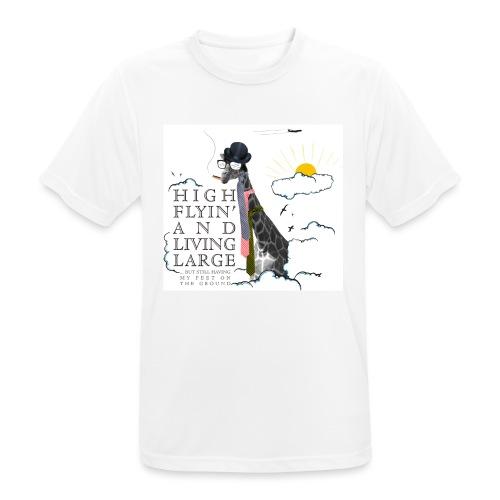 High flying Giraffe - miesten tekninen t-paita