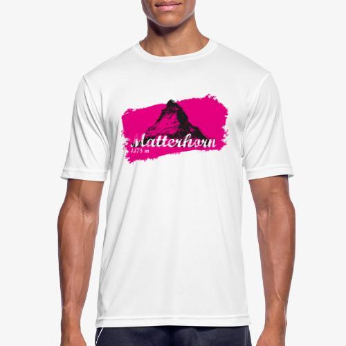 Matterhorn - Cervino en rosa - Men's Breathable T-Shirt
