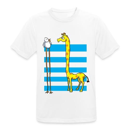 La girafe et l'échassier - T-shirt respirant Homme