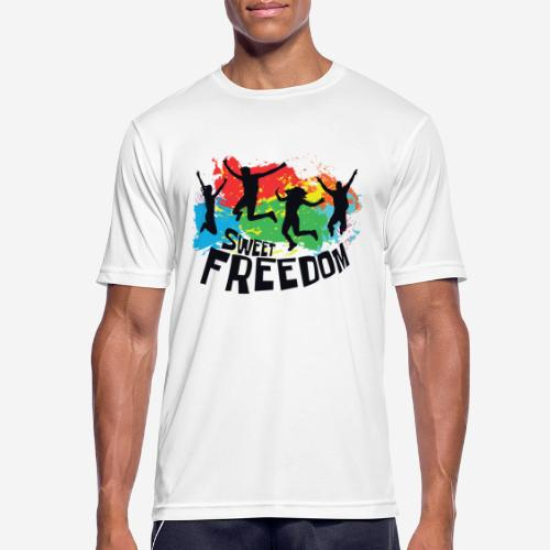 Freiheit frei - Männer T-Shirt atmungsaktiv