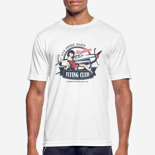 Retro Vintage Flugzeug Club fliegen - Männer T-Shirt atmungsaktiv