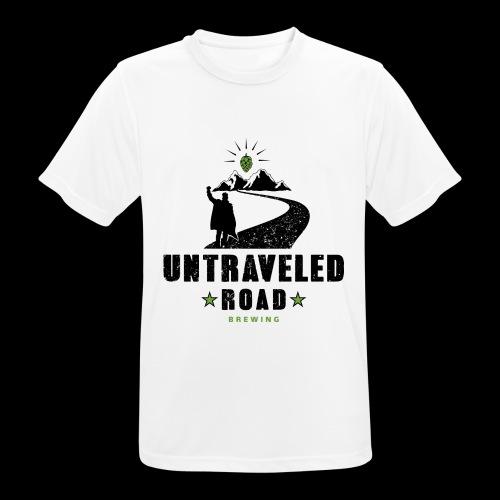 Untraveled Road Logo - schwarz/grün - Männer T-Shirt atmungsaktiv