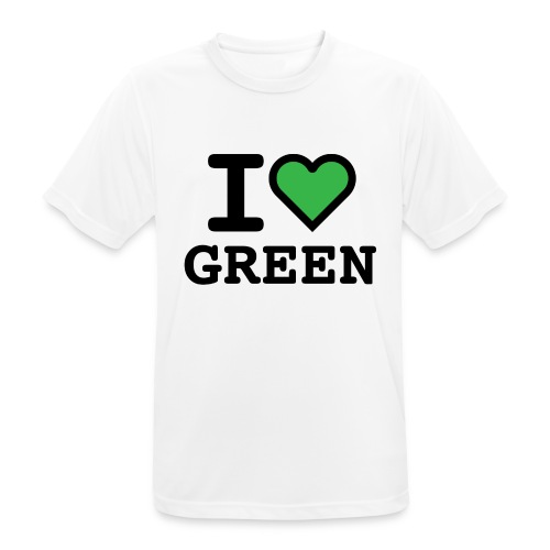 i-love-green-2.png - Maglietta da uomo traspirante