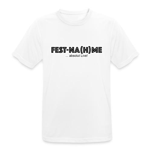 Fest Nahme Brust Verein - Männer T-Shirt atmungsaktiv