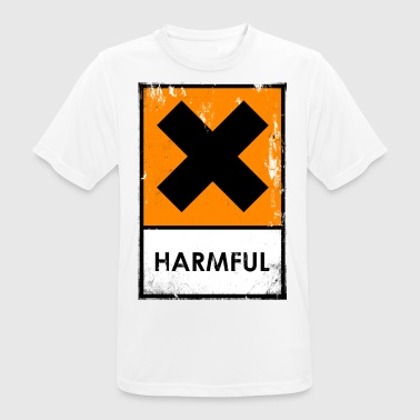 Chemical risk symbol. Harmful or irritating - Men's Breathable T-Shirt