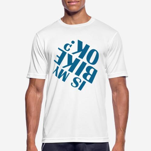 Fahrradunfall fallen - Männer T-Shirt atmungsaktiv
