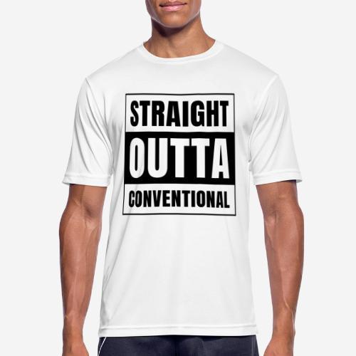 straight outta conventional - Männer T-Shirt atmungsaktiv