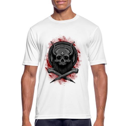 VIKING SKULL - miesten tekninen t-paita