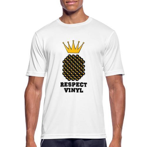 Kings & Queens • Respect Vinyl - Männer T-Shirt atmungsaktiv