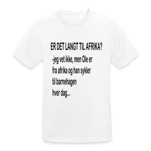 Langt til afrika? - Pustende T-skjorte for menn