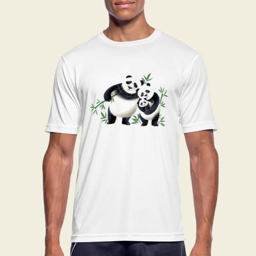 Pandafamilie Baby - Männer T-Shirt atmungsaktiv