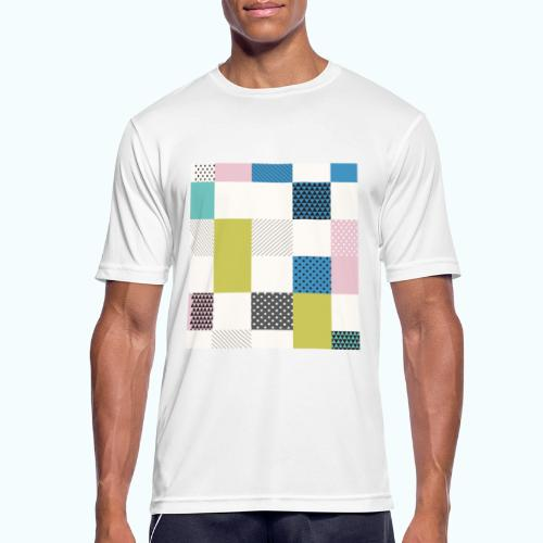 Abstract art squares - Men's Breathable T-Shirt