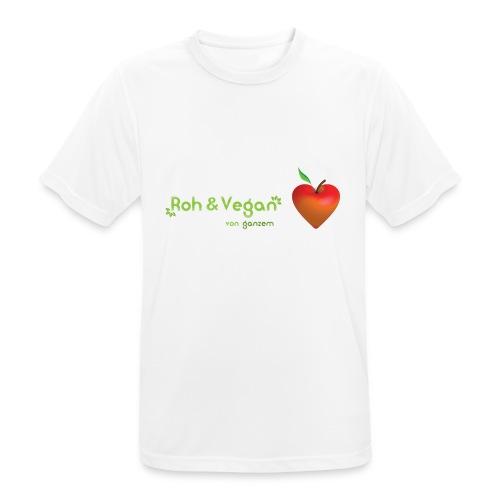 Roh & Vegan rotes Apfelherz (Rohkost) - Männer T-Shirt atmungsaktiv