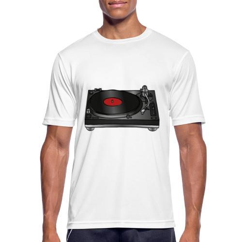 Plattenspieler VINYL - Männer T-Shirt atmungsaktiv