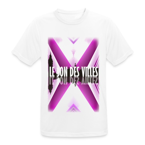 The wall - purple - by Lesondesvilles - T-shirt respirant Homme