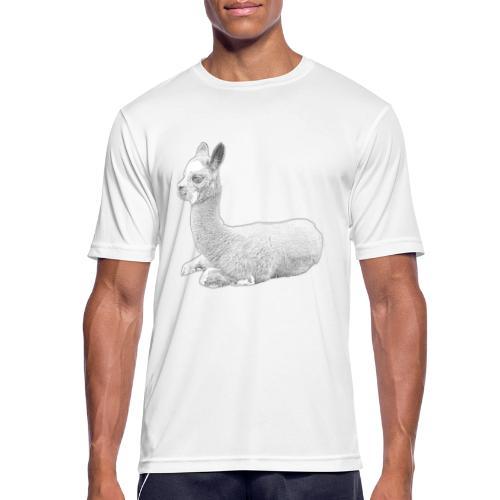 Kleines Alpaka - Männer T-Shirt atmungsaktiv