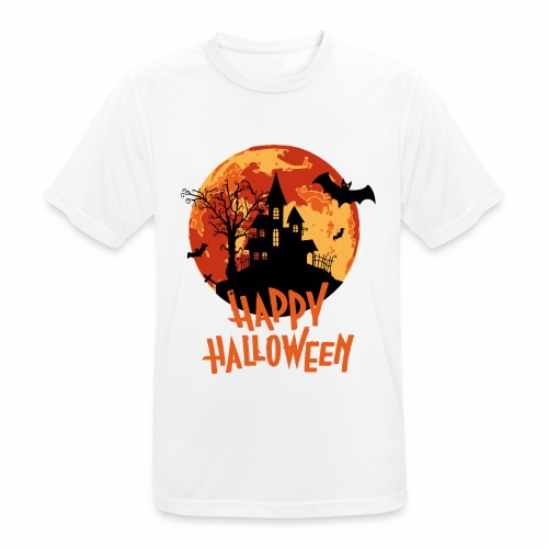 Bloodmoon Haunted House Halloween Design - Männer T-Shirt atmungsaktiv