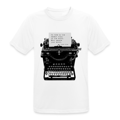 Oscar Wilde Quote on Old Remington 10 Typewriter - Men's Breathable T-Shirt