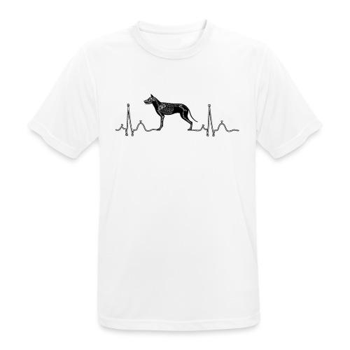 ECG met hond - Mannen T-shirt ademend actief