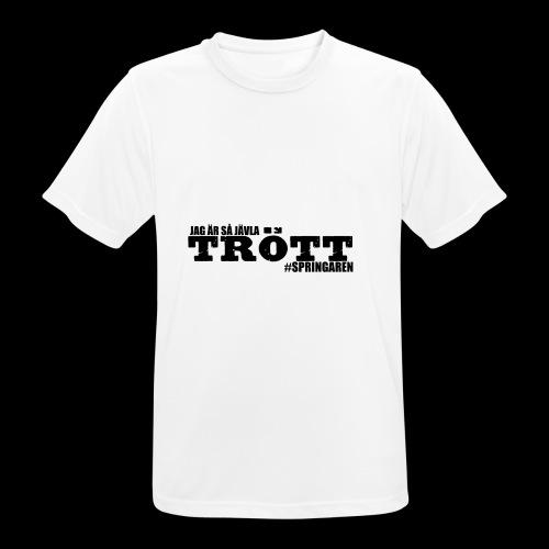 #Springaren jag är så jävla trött - Andningsaktiv T-shirt herr